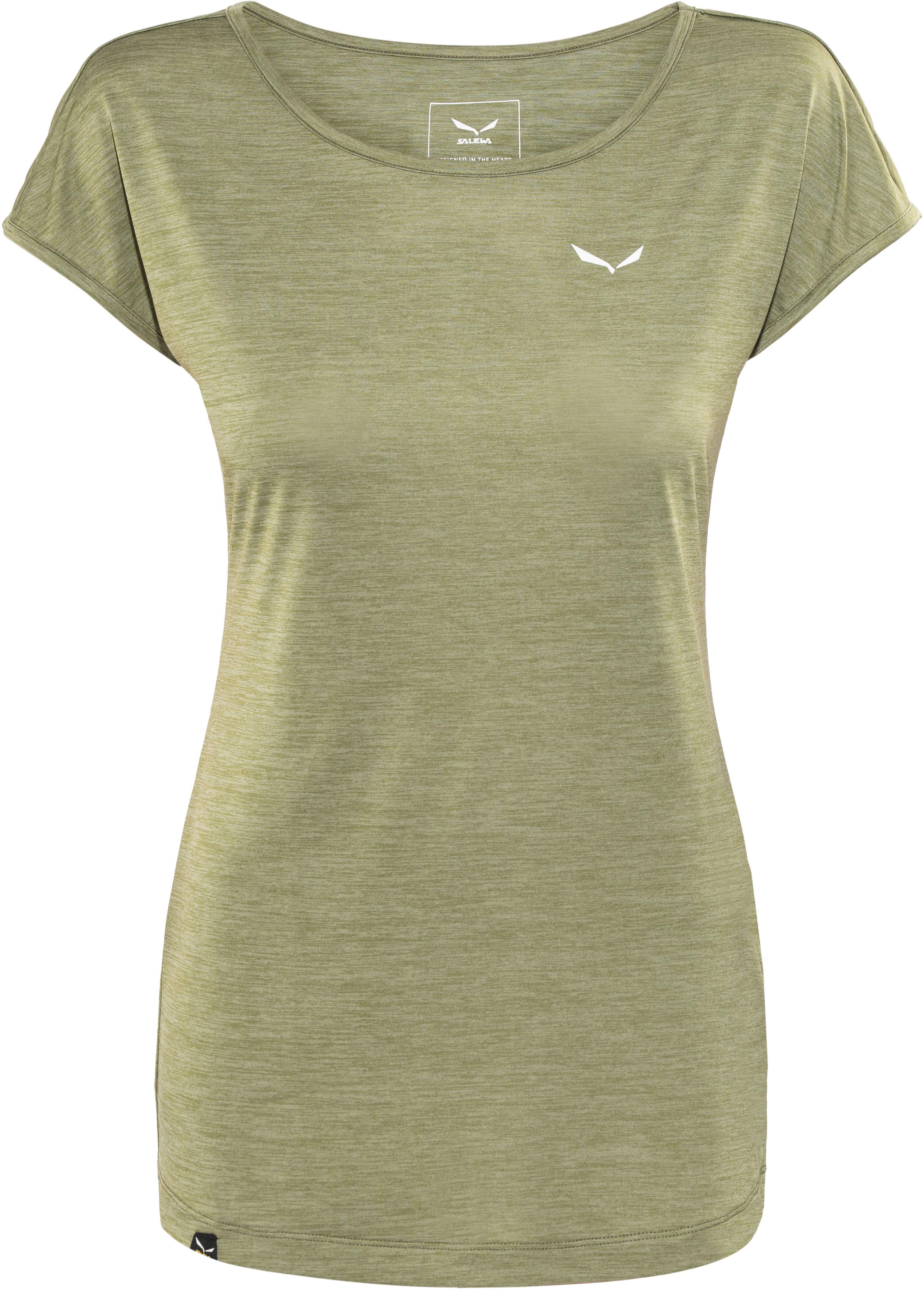 7976c7280ec623 Salewa Puez Melange Dry Shortsleeve Shirt Women olive at Addnature.co.uk